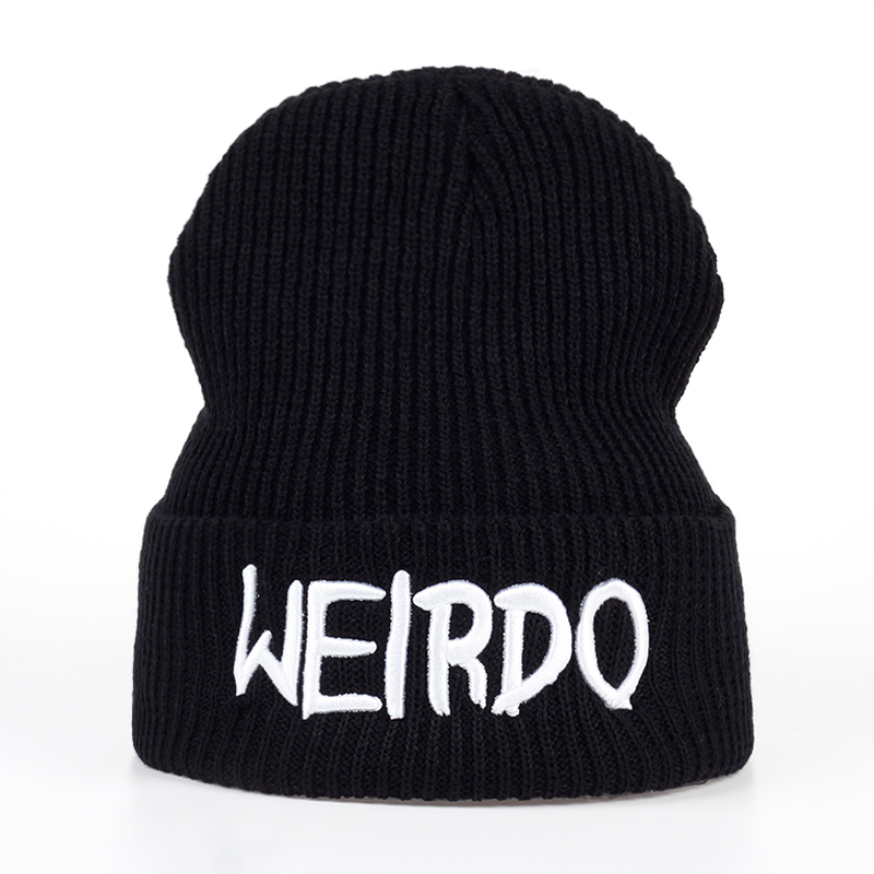 Fashion WEIRDO embroidery Winter men women For Warm Winter Knitted Hat Brand Boy Girl Hat Casquette   Beanies   cap hats