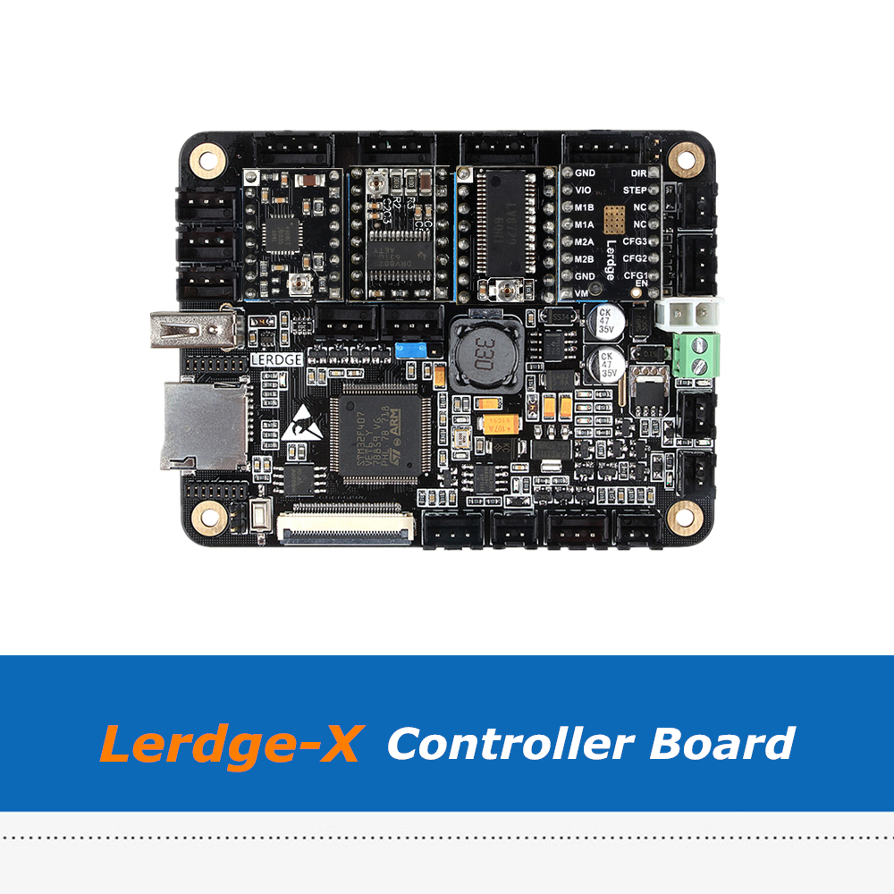 ARM 32bit Lerdge-X Controller Board With A4988/Drv8825/TMC2100/LV8729/TMC2208 For Reprap 3D PrinterARM 32bit Lerdge-X Controller Board With A4988/Drv8825/TMC2100/LV8729/TMC2208 For Reprap 3D Printer