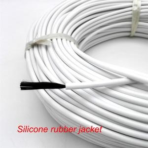 Image 2 - Cable calefactor de fibra de carbono infrarroja, calentador revestido de caucho de silicona o fluoropolímero de 36K y 48K