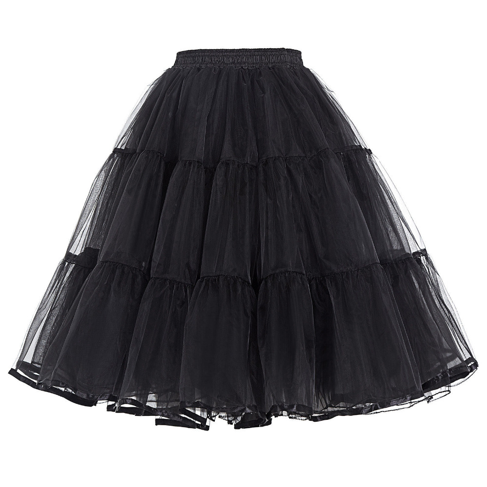 New Women Tulle Petticoat Crinoline Vintage Wedding Bridal Petticoat For Wedding Dresses Underskirt Rockabilly Tutu