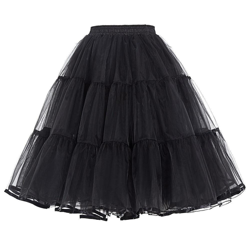 New Women Tulle Petticoat Crinoline Vintage Wedding Bridal Petticoat For Wedding Dresses Underskirt Rockabilly Tutu