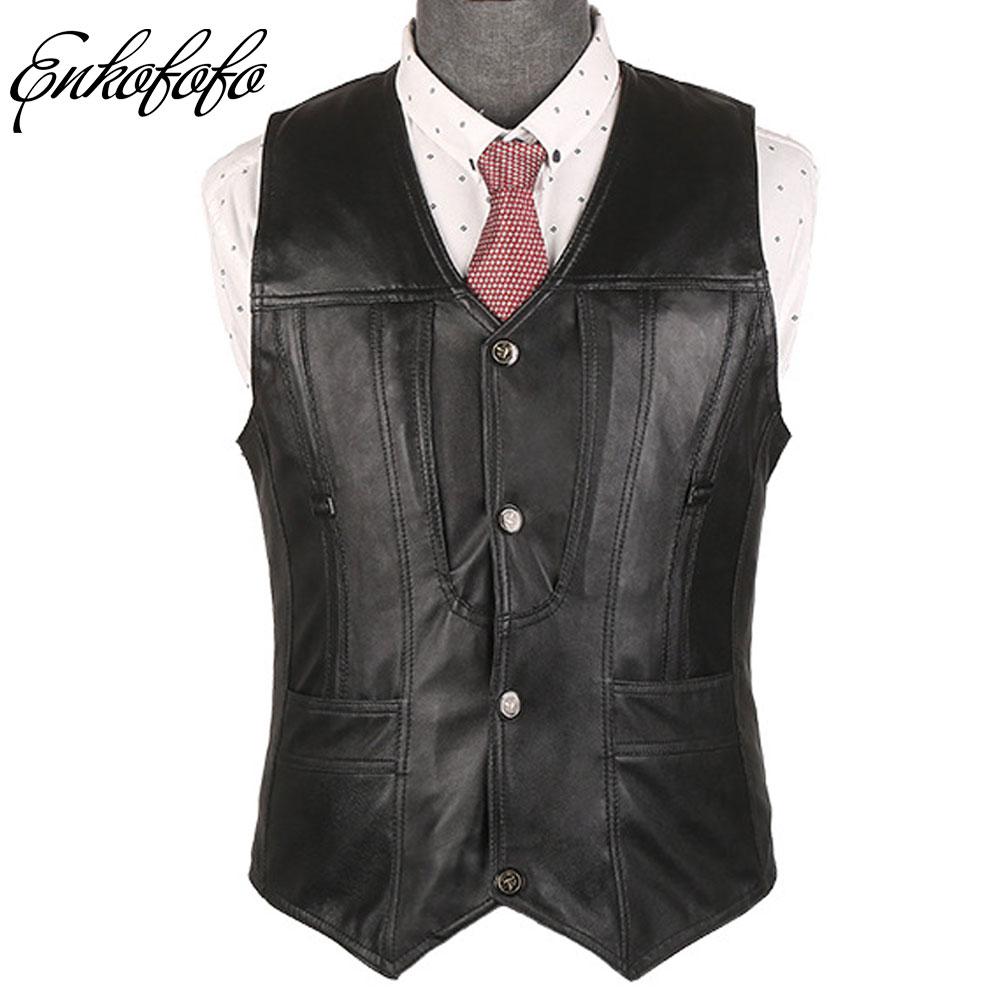Jackets & Coats Genuine Leather Vest Men Winter Wool Liner Thick Plus Size Clothing Motorbike Sheepskin Waistcoat Vests Man Motorcycle Jacket