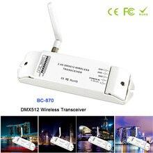 лучшая цена BC-870 DC 5V-36V DMX512 Wireless Transceiver Multi-usage DMX signal transmitter set as a receiver or emitter controller