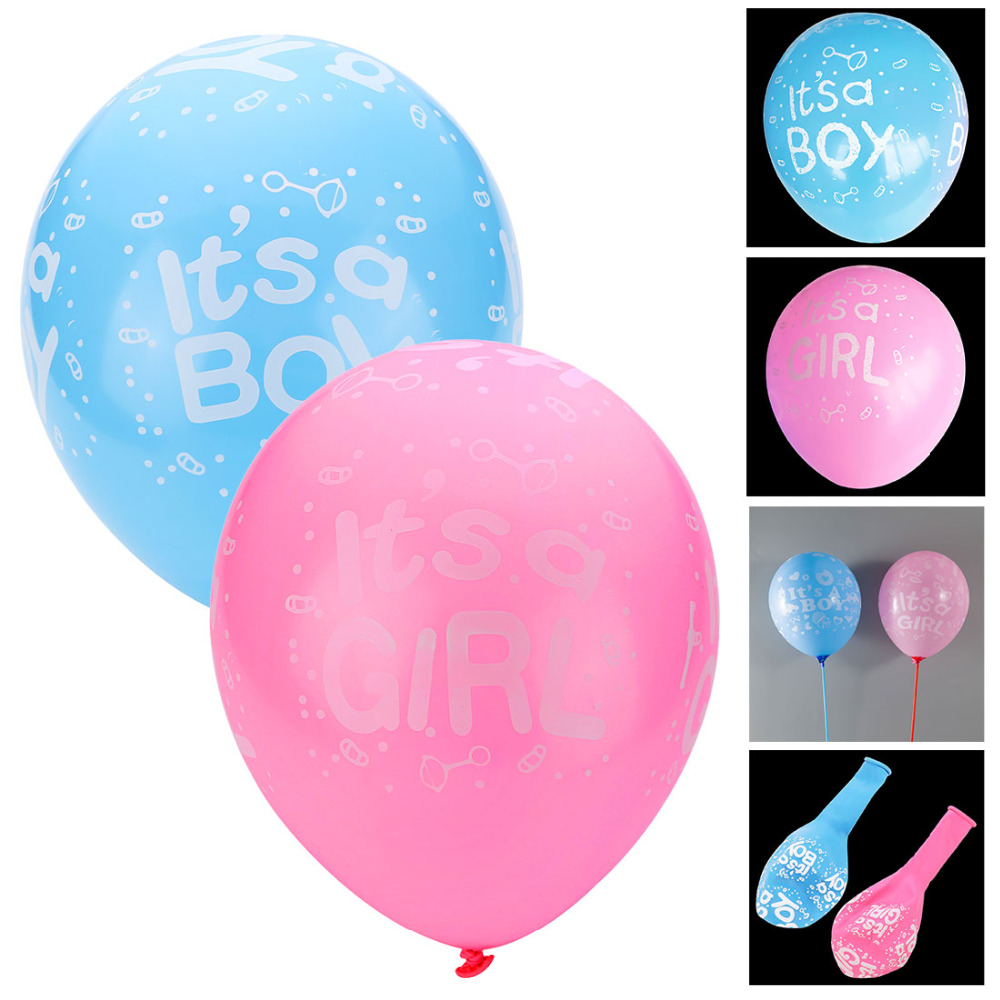 10Pcs It is a boy and its a girl baby boy latex balloons for Wedding Birthday Baby shower Party Decoration Blue Pink Colors