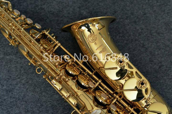 Selma 803 Alto Eb Tone Saxophone Exquisite Carving Gold Lacquer Brass Sax Brand Quality E Flat Musical Instruments With Case hot brand new gold lacquer eb alto trombone student horn nice tone instrumentos musicais profissionaltuba brass
