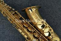Selma 803 Alto Eb Tone Saxophone Exquisite Carving Gold Lacquer Brass Sax Brand Quality E Flat Musical Instruments With Case