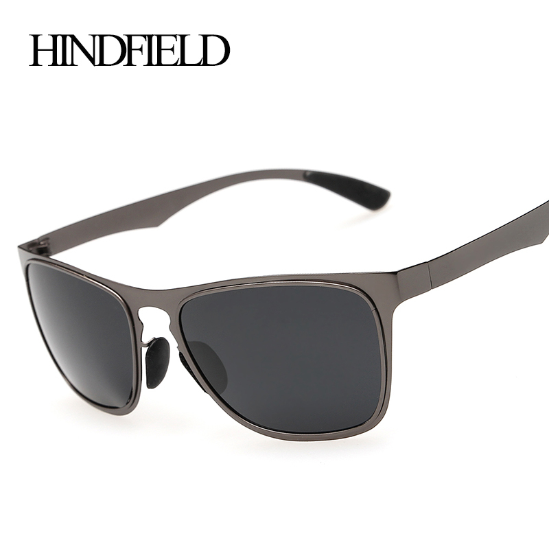 HINDFIELD Fashion Metal Sunglasses Polarized Men Sports Coating Sun Glasses Male Google Oculos De Sol