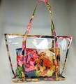 Fashion beach handbag New PVC shoulder bag for women Lady candy clear handbag Fashion brand handbag with printing