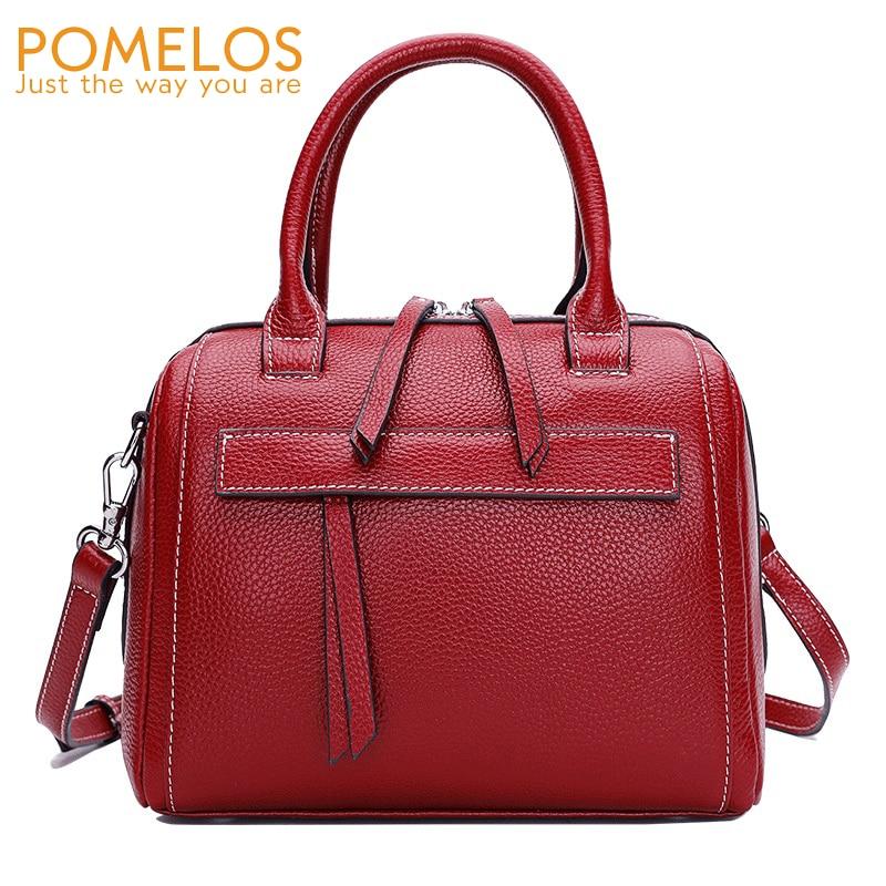 POMELOS Women Handbags Shoulder Bag 2019 New Arrival Leather Bag Women Luxury Handbags Women Bags Designer Brand Leather Handbag in Shoulder Bags from Luggage Bags