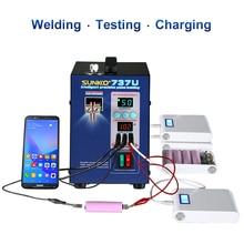 SUNKKO Battery spot welding machine 737U 2.8kw LED lamp pulse battery USB test charging machin