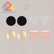 4Pairs /Set Geometric shape Gold Earrings Set Women Punk Stud Earrings Set Personality Party Clothing Jewelry недорого