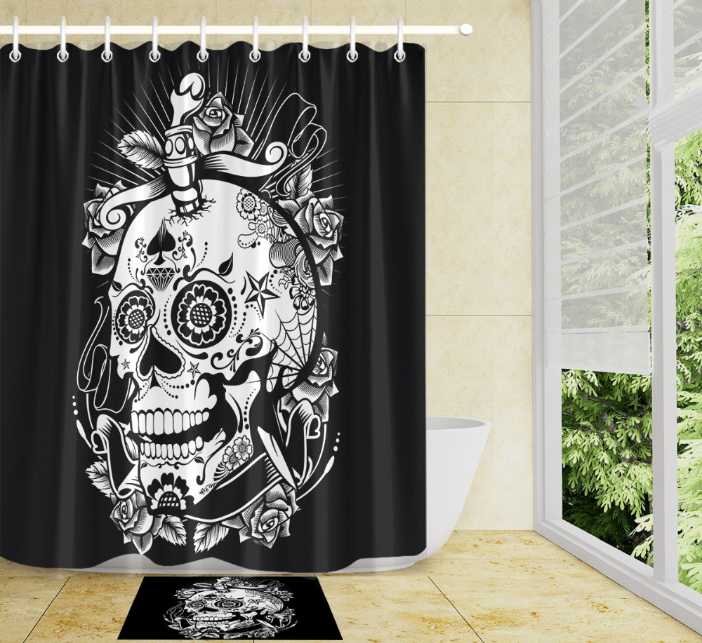 African Woman Waterproof Bathroom Polyester Curtain 72*60inch