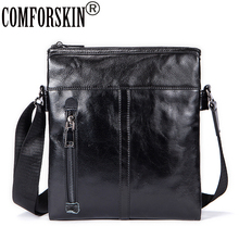 COMFORSKIN Luxurious Genuine Leather Guaranteed Men Bags 2018 New Arrivals Hot Brand European And American Style Messenger Bag