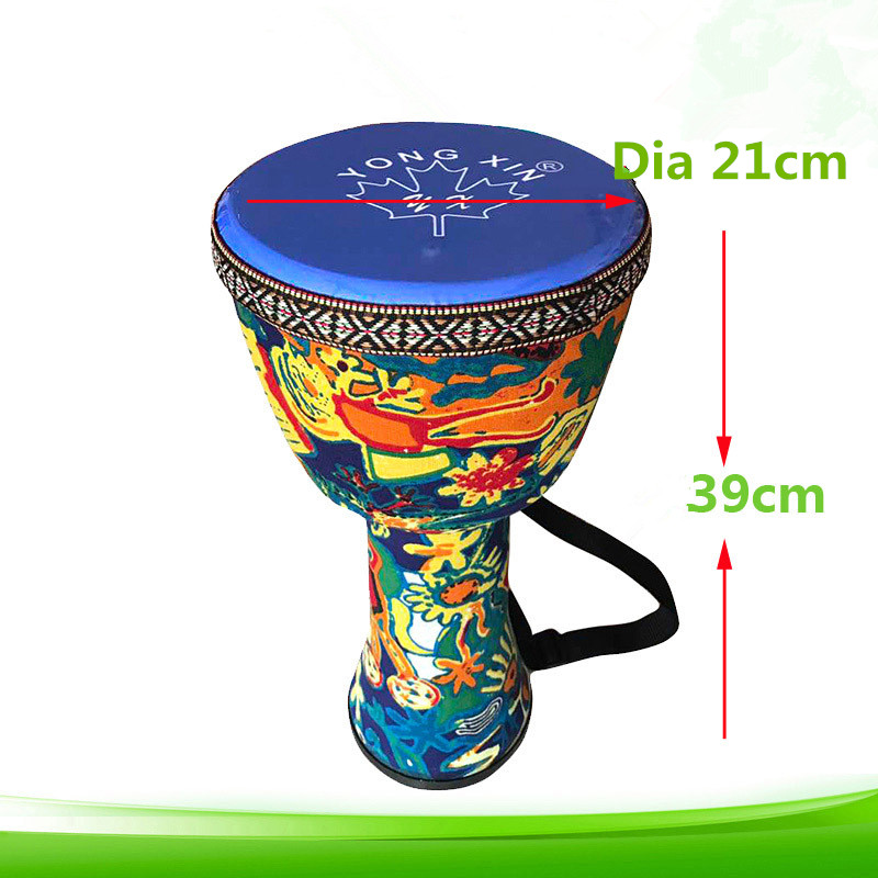 8 inch ABS Djembe Drum African Percussion Hand Mahogany Wooden Jambe Doumbek Drummer With Pattern