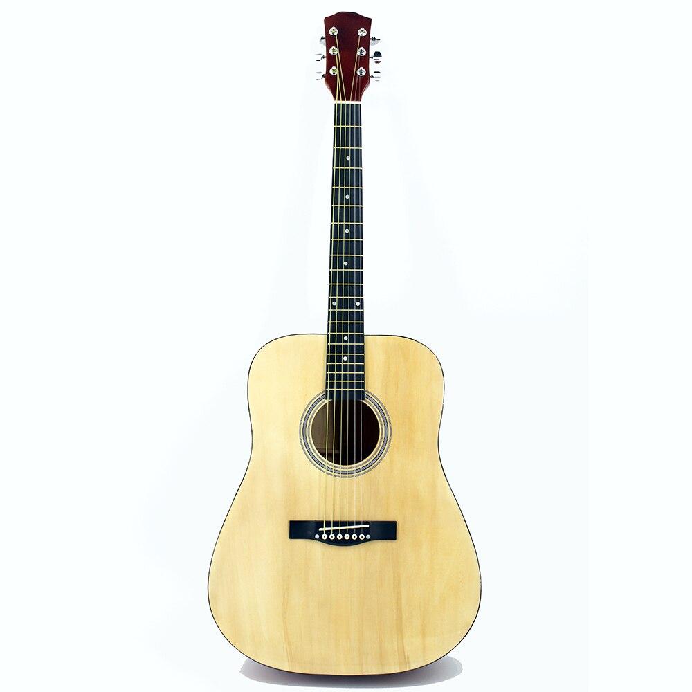 41 pouces belle couleur bois guitare acoustique haute qualité Guitarra étudiants guitare débutant