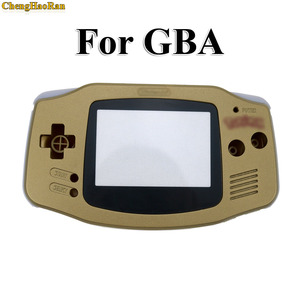 Image 3 - ChengHaoRan 1set Gold Golden shell case housing for gameboy advance GBA with pika chu poke mon protector screen lens