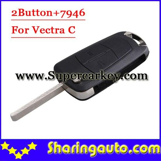 bilder für Freies verschiffen 2 Knopf-schlag-fernschlüssel 433 MHZ Für Opel Vectra Mit 7946 1 teile/los