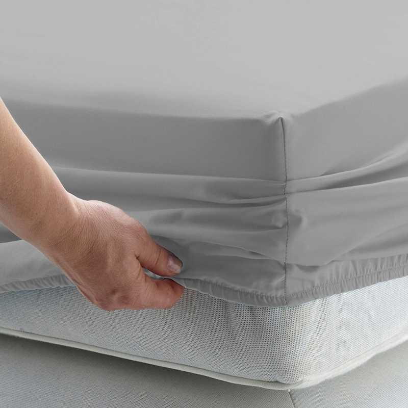 Solid Bed Sheet Fitted Sheet With Elastic Band Plain Bedding King Queen Size Bed Mattress Cover Bedsheet RussiaSize 160x200cm