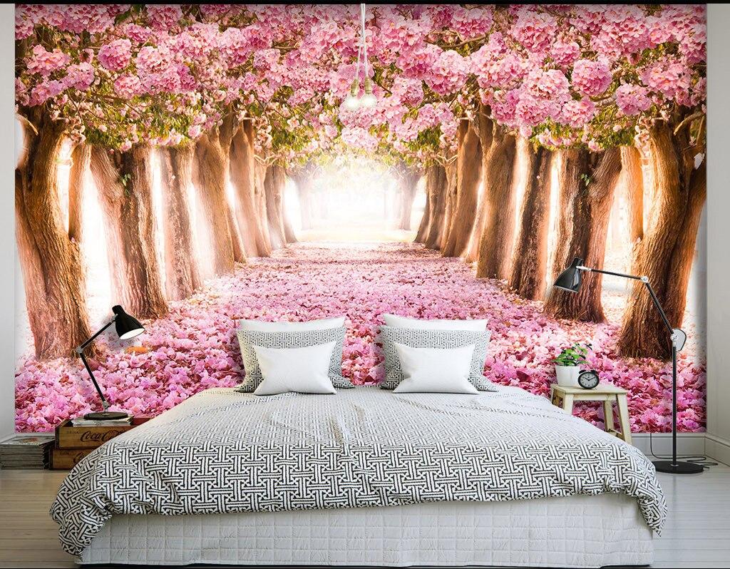 Toko Online Kustom Wallpaper 3D HD Cherry Pohon Pemandangan Alam