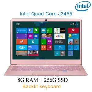 "P9-13 Rose gold 8G RAM 256G SSD Intel Celeron J3455 26"" Gaming laptop notebook desktop computer with Backlit keyboard"