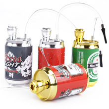 Mini Hookah Shisha Tobacco Smoke Water Pipe Colorful Metal Cans Coke Bottle Dia5CM Height 10CM Pipe Holder Filter Drop Shipping