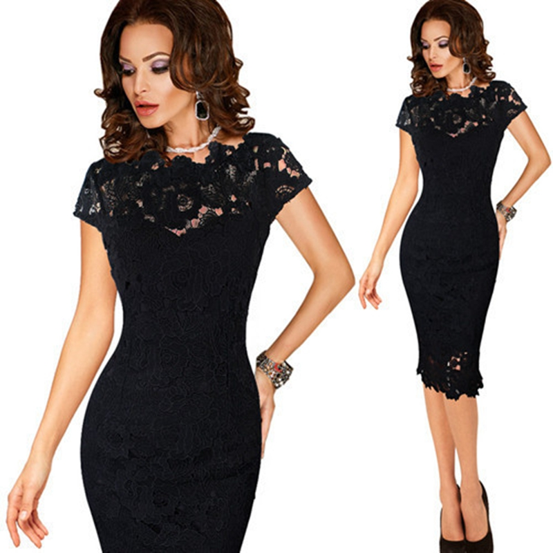 Hot Sale Womens Elegant Sexy Crochet Hollow Out Pinup One Piece