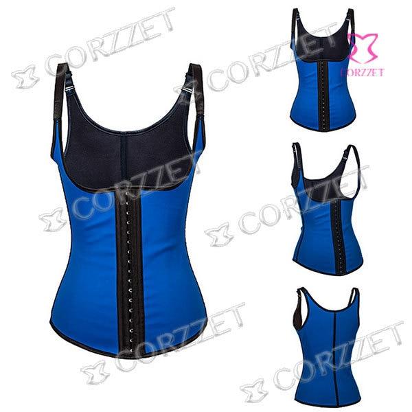5749fbba710 Women Shapewear Sexy Steel Boned Underbust Corset Waist Trainer Corsets  Slimming Body Shaper Plus Size Latex Waist Trainer Vest
