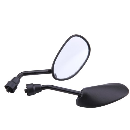 Pair Rear - view mirror for Motorcycle Scooter tread screw 8mm M8 adjustable rotation