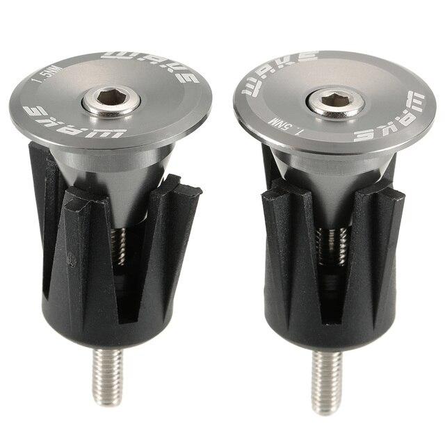 WAKE 1Pair Aluminum Handlebar End Caps Bicycle Bike Handlebar Grip End Plug Handle Grip End Stoppers