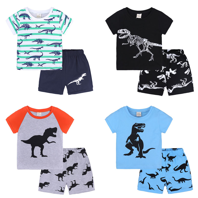 New Fashion Telotuny 2018 Summer Kids Baby Boys Clothes Set 1set Summer Casual Children Kid Toddler Cartoon T-shirt beach Shorts Pants A15 Boys' Clothing Clothing Sets
