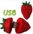 Venda quente de frutas vermelhas morango USB flash drive usb 2.0 1 GB 2 GB 4 GB 8 GB 32 GB pendrive memory stick U Disk Presente Festival S546