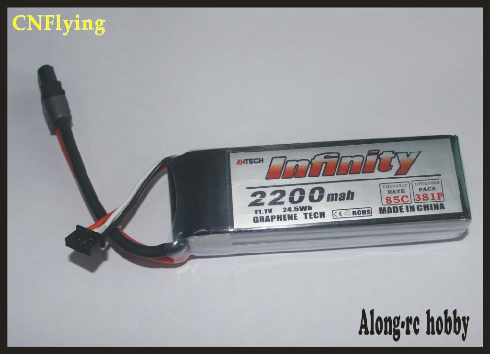 RC airplane parte infinito 3 s 11,1 V 2200 mAh 85C grafeno LiPo batería recargable SY60 conector soporte 15C cargador