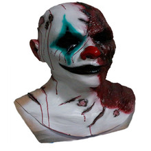 Top Selling Newly Design Deluxe Quality Realistic Party Dress Adult Latex Rubber Halloween Clown Demon Evil Mask