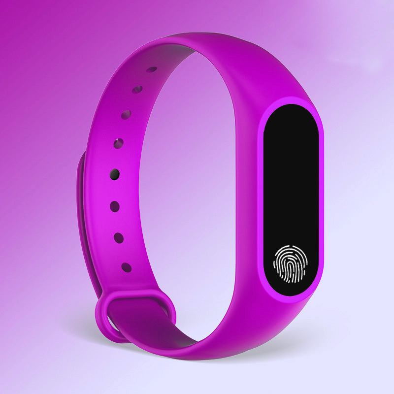 mehroon finger print watch for men and women
