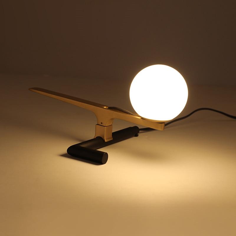 Lampes de Table modernes or oiseaux en laiton Animal bureau lumière rétro Designer Bar salon chambre décor maison éclairage lampe de Table H032
