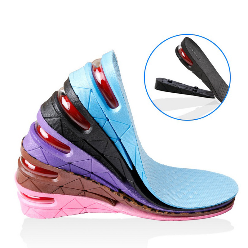 Free Shipping Height Increase 5CM Insole Adjustable Sports Shoes Pad Heel  Lift Air Cushion Inserts Taller