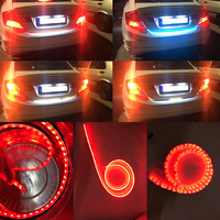 Ice Blue White Red Yellow 4 Color Dynamic Stream Trunk Strip Flow Lights For Reverse Brake