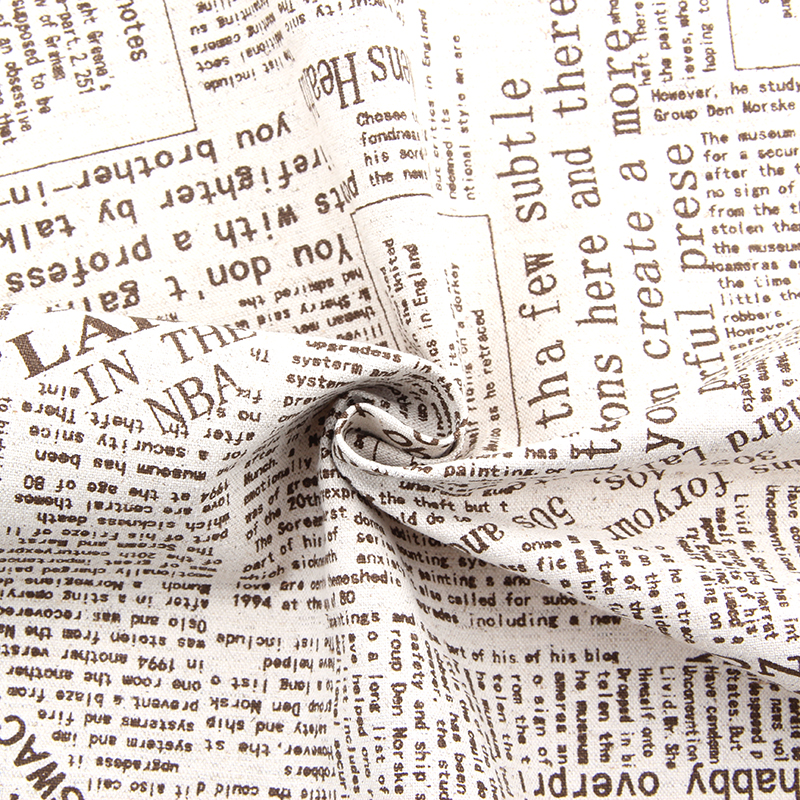 Popular Vintage Newspaper Fabric-Buy Cheap Vintage Newspaper