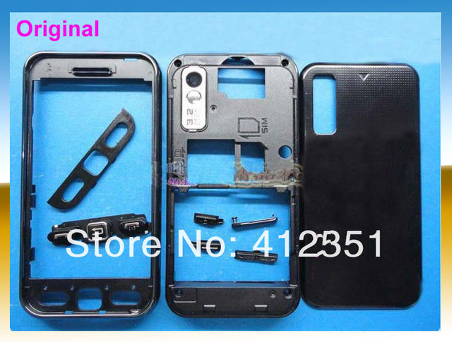 100% new Original Black complete replacement full housing/case/cover For Samsung 5230 5233,free shipping