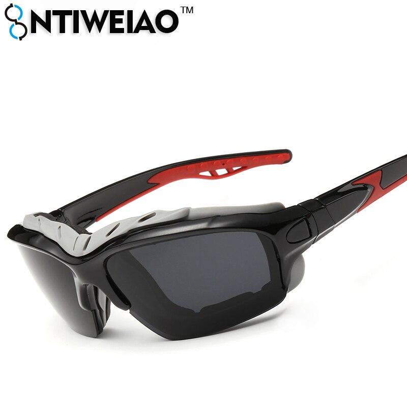 NTIWEIAO Sport Polarized Sunglasses Men Sun Glasses Male Eyewear Driving Glasses UV400 HD Sunglasses