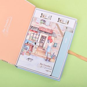 Image 3 - Korean A5 Notebook Set Kawaii Cute Planner Organizer Dokibook Personal Travel Diary Journal Note Books + 6 Colored Pens and Tape