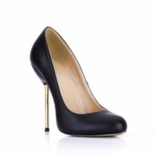 Shoes 2016 Europe Fall New Workplace Shoes Mature Black Iron Heels 3845-B1