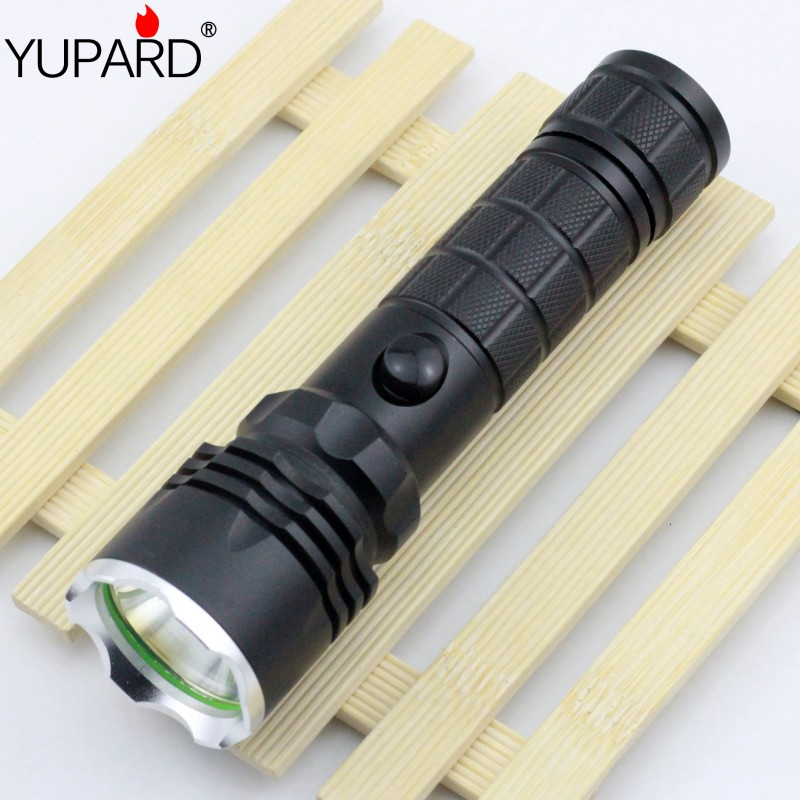 YUPARD XM-L T6 LED Rechargeable battery Flashlight Torch high power Lamp tactical camping outdoor torch 18650 26650 battery xm l t6 led zoomable led flashlight torch 26650 18650 rechargeable battery usb charge mobile power bank tactical camping torch