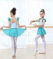 الباليه توتو زي الفتيات طويلة الأكمام الأسود الصيف تنورة المهنية مرحلة الرقص ارتداء الأطفال الباليه توتو
