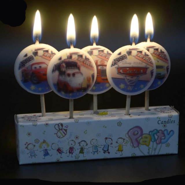 Terrific Online Shop 5Pcs Set Disney Cars Sofia Princess Cartoon Cupcake Personalised Birthday Cards Veneteletsinfo