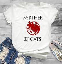 Mother of Cat T-Shirt, Game Thrones Inspired Shirt Winter Is Coming  Tee Funny Graphic Tops