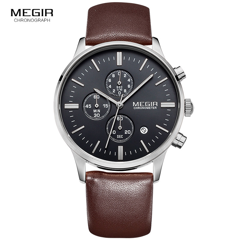 Relogio Masculino MEGIR oro hombres relojes Top marca de lujo reloj hombre cuarzo relojes de oro hombres reloj gota