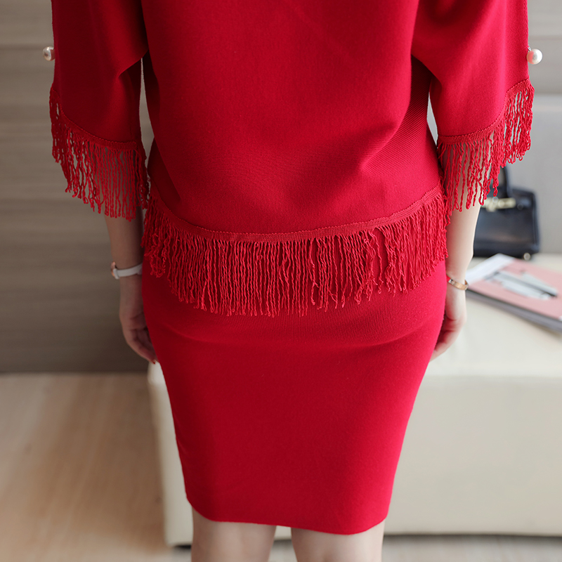 b4f333273cbe Fashion Women Sweater Skirt Set Spring Autumn Tops+Short Skirts 2016 Slim  Long Sleeve Knitted Suit Twinset Women Clothing WS13-in Women's Sets from  Women's ...