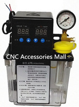1L 220V AC Electric Auto Lubrication Pump CNC Engraving Router machine Automatic Oil Pump with pressure gauage недорго, оригинальная цена
