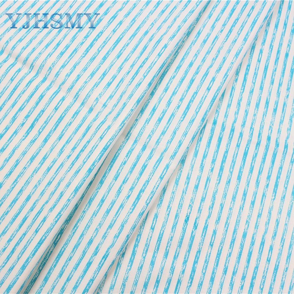 YJHSMY 177025, stripe cotton fabric,width 50 x160cm/pcs,DIY handmade crib bedding sets,pillows,tablecloths,baby bed linings